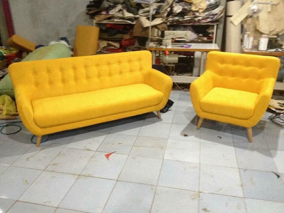 sofa phong khách - hồng gia hân