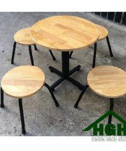 Bàn ghế cafe ngoài trời chân sắt HGH94