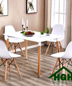 Bàn ghế cafe hiện đại chân gỗ 03