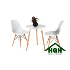 Bàn ghế cafe chân gỗ HGH 22