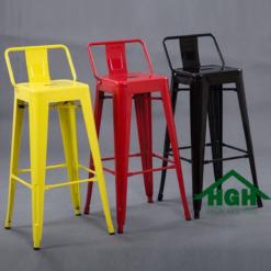 Ghế quầy bar chân cao có lưng tựa HGH 21