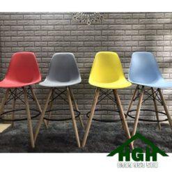 Ghế bar chân gỗ HGH83