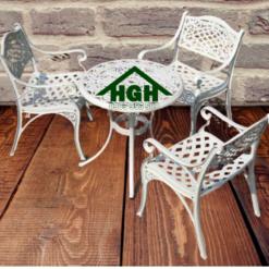 Bàn ghế sân vườn ngoài trời HGH 45