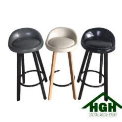 Ghế quầy bar chân thép HGH81