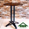 Bàn cafe mặt gỗ chân sắt HGH 27