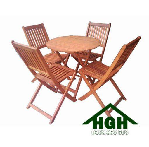 Bàn ghế xếp cafe sân vườn HGH95
