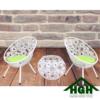 Bàn ghế cafe mây nhựa hình trứng HGH 07