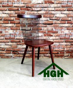 Ghế cafe chân gỗ HGH 32