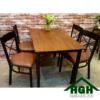 Bàn ghế phòng ăn mặt gỗ HGH 18