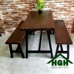 Bàn ghế cafe mặt gỗ HGH 33