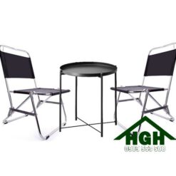 Bàn ghế xếp inox HGH97