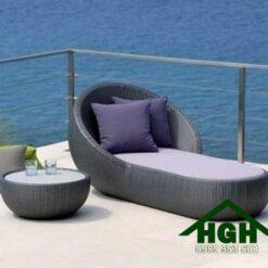 Giường tắm nắng mây nhựa HGH 06