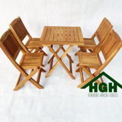 Bàn ghế cafe ngoài trời HGH89