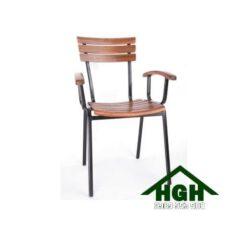 Ghế cafe mặt gỗ chân sắt HGH87