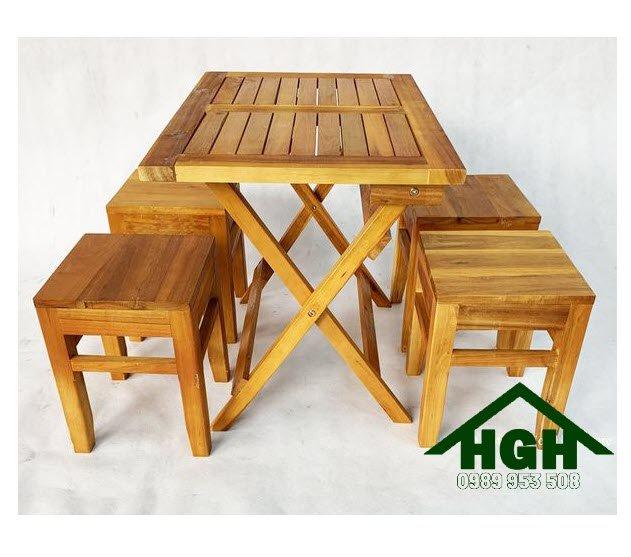 Bàn ghế gỗ cafe cóc HGH92