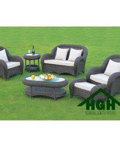 Bàn ghế sofa mây nhựa HGH77