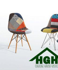Ghế nhựa bọc vải thổ cẩm HGH109