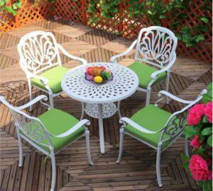 Bộ bàn ghế nhôm đúc có tay vịn